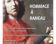 Mercredi  5 november  à 19 h : concert donné par les étudiants du Conservatoire royal de Bruxelles dans la salle des Glaces : Hommage à Rameau